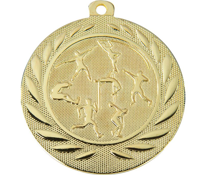 "Track & Field Gallant Medal Gold 50mm (2"")"