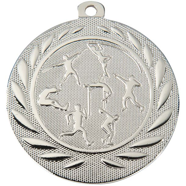 "Track & Field Gallant Medal Silver 50mm (2"")"