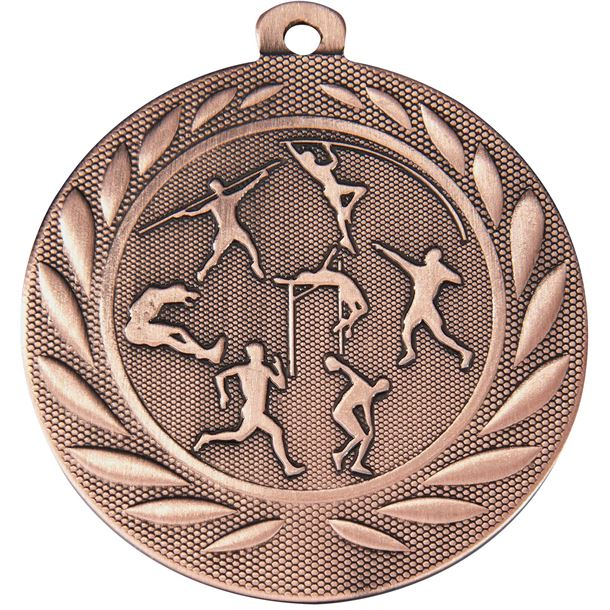 "Track & Field Gallant Medal Bronze 50mm (2"")"