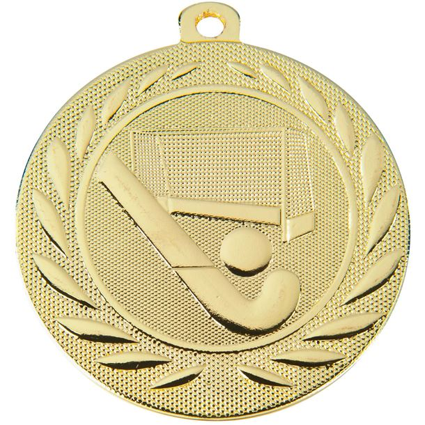 "Hockey Gallant Medal Gold 50mm (2"")"