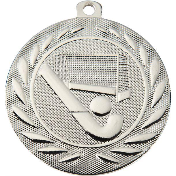 """Hockey Gallant Medal Silver 50mm (2"""")"""