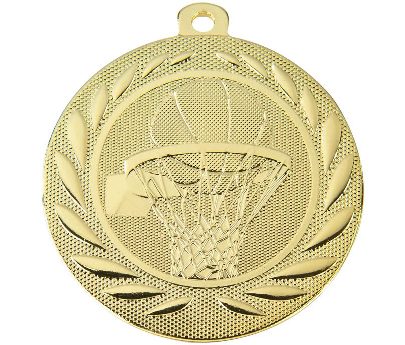 "Basketball Gallant Medal Gold 50mm (2"")"