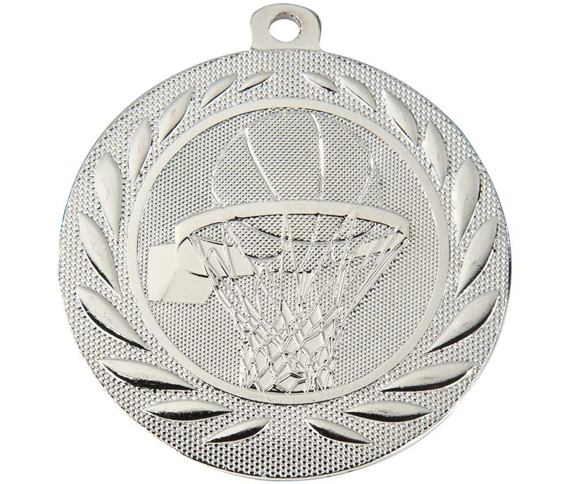 "Basketball Gallant Medal Silver 50mm (2"")"