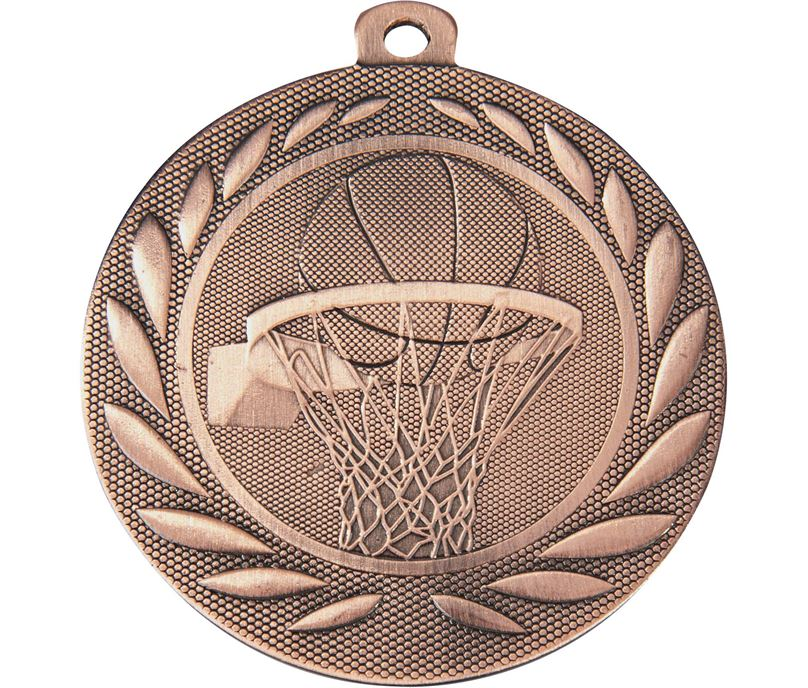 "Basketball Gallant Medal Bronze 50mm (2"")"