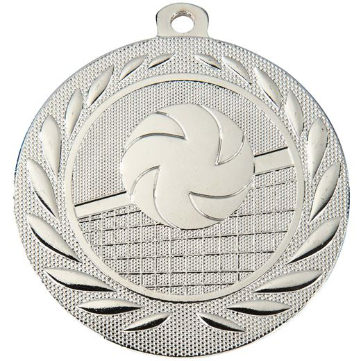 """Volleyball Gallant Medal Silver 50mm (2"""")"""
