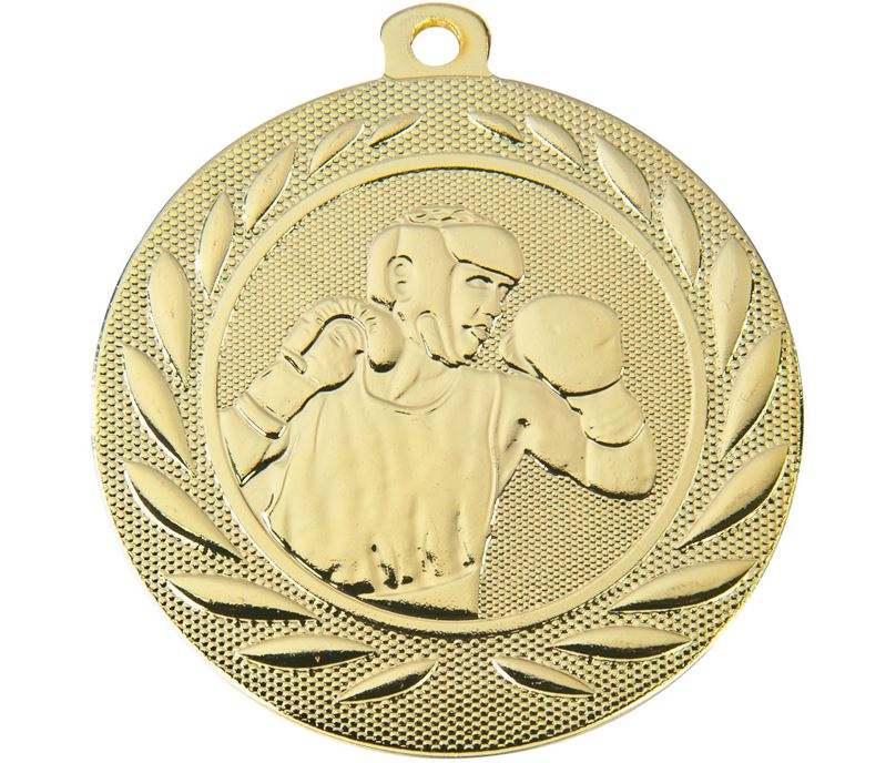 """Boxing Gallant Medal Gold 50mm (2"""")"""