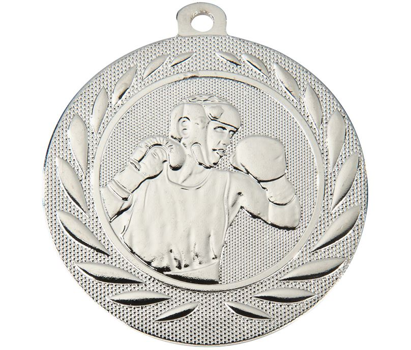 """Boxing Gallant Medal Silver 50mm (2"""")"""