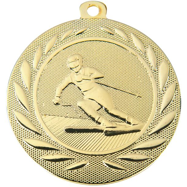 """Downhill Skiing Gallant Medal Gold 50mm (2"""")"""