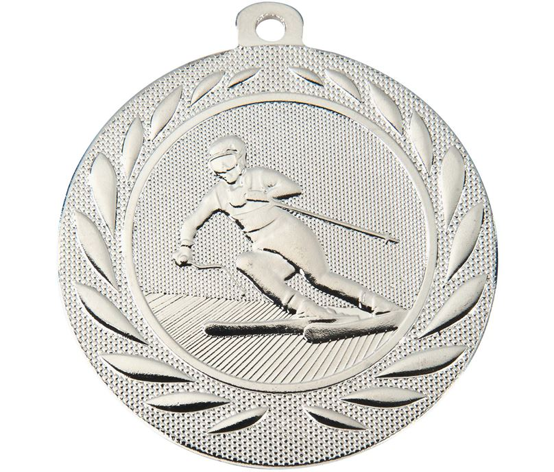"""Downhill Skiing Gallant Medal Silver 50mm (2"""")"""