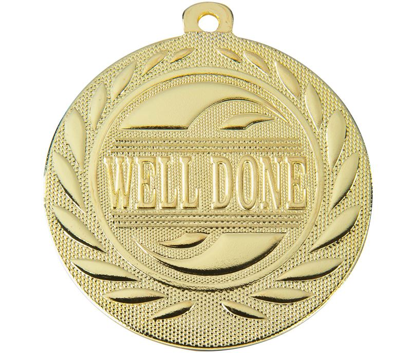 """Well Done Gallant Medal Gold 50mm (2"""")"""