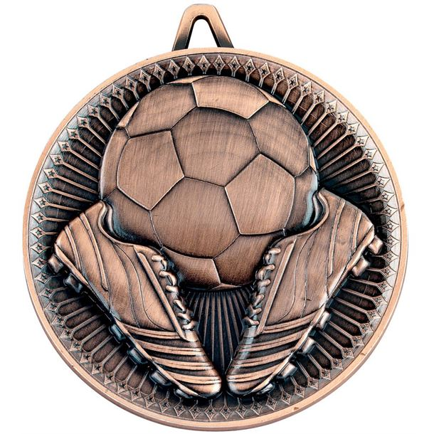 """Deluxe Football Medal Antique Bronze 60mm (2.25"""")"""
