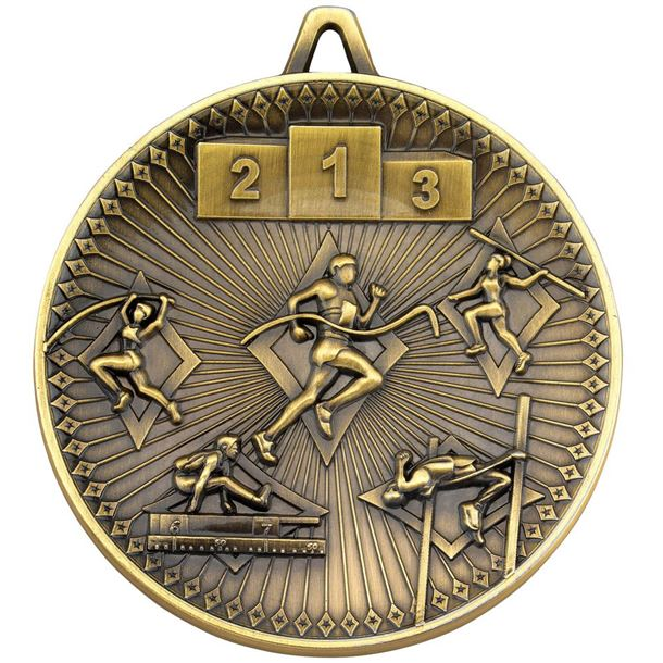 """Deluxe Athletics Medal Antique Gold 60mm (2.25"""")"""