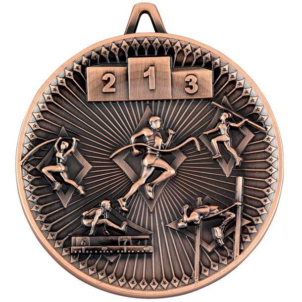 "Deluxe Athletics Medal Antique Bronze 60mm (2.25"")"