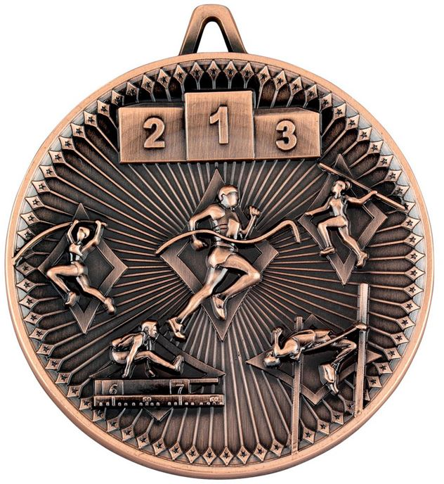 "Deluxe Athletics Medal Antique Bronze 60mm (2.25"")"