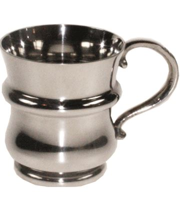 "1/4pt Thistle Shaped Children's Sheffield Pewter Tankard 7cm (2.75"")"