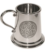 "1/4pt Embossed Celtic Circle Children's Sheffield Pewter Tankard 7.5cm (3"")"