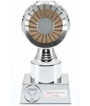 "25mm Centre Trophy Silver Hemisphere 16.5cm (6.5"")"