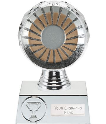 "25mm Centre Trophy Silver Hemisphere 13.5cm (5.25"")"