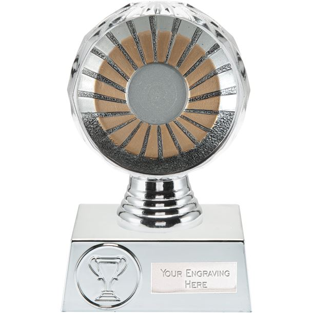 "25mm Centre Trophy Silver Hemisphere 13.5cm (5.25"")"