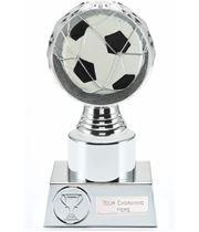 "Football Trophy Silver Hemisphere 16.5cm (6.5"")"