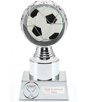 "Football Trophy Silver Hemisphere 16.5cm (6.5"")"
