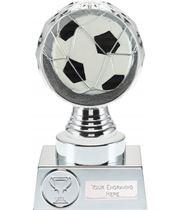 "Football Trophy Silver Hemisphere 15cm (6"")"