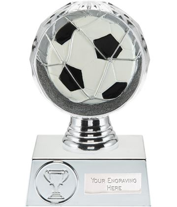 "Football Trophy Silver Hemisphere 13.5cm (5.25"")"