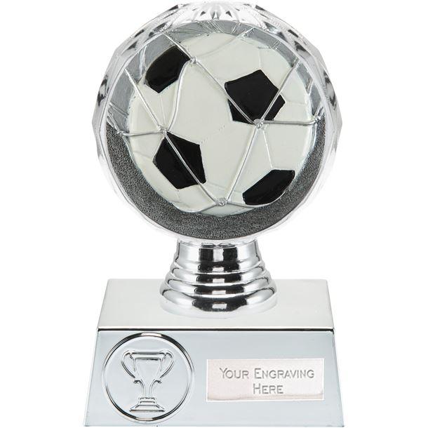 "Football Trophy Silver Hemisphere 13.5cm (5.25"")"