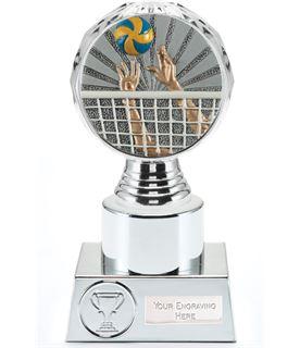 "Volleyball Trophy Silver Hemisphere 16.5cm (6.5"")"