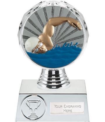 """Swimmer Trophy Silver Hemisphere 13.5cm (5.25"""")"""