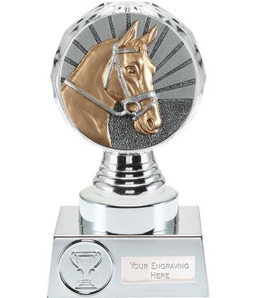 "Horse Trophy Silver Hemisphere 15cm (6"")"