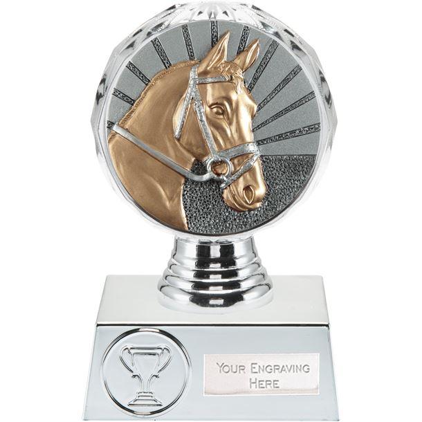 "Horse Trophy Silver Hemisphere 13.5cm (5.25"")"