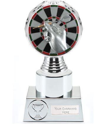 "Darts Trophy Silver Hemisphere 16.5cm (6.5"")"