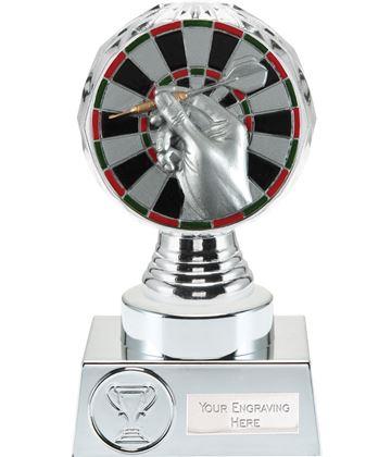 "Darts Trophy Silver Hemisphere 15cm (6"")"