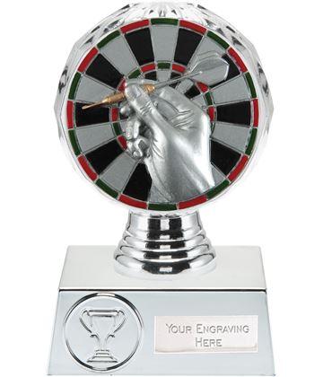 "Darts Trophy Silver Hemisphere 13.5cm (5.25"")"