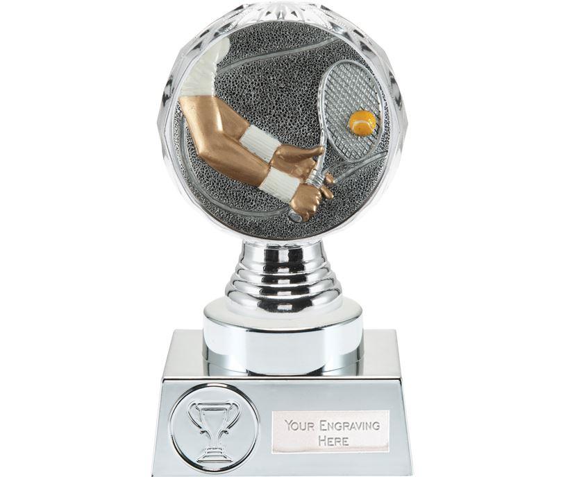 "Tennis Trophy Silver Hemisphere 15cm (6"")"
