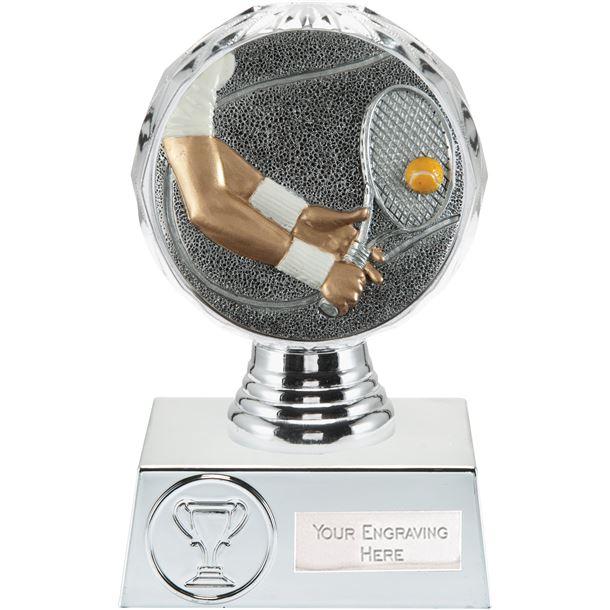"Tennis Trophy Silver Hemisphere 13.5cm (5.25"")"