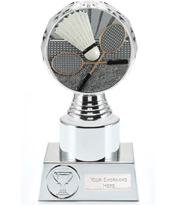 "Badminton Trophy Silver Hemisphere 16.5cm (6.5"")"