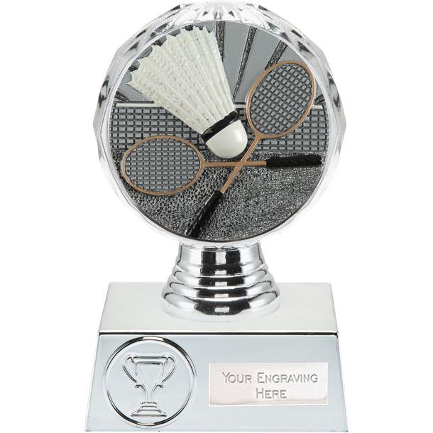 "Badminton Trophy Silver Hemisphere 13.5cm (5.25"")"