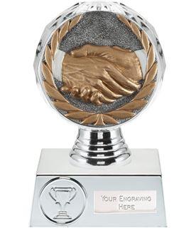 """Handshake Trophy Silver Hemisphere 13.5cm (5.25"""")"""