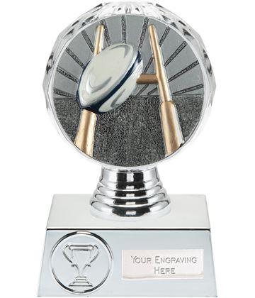 "Rugby Trophy Silver Hemisphere 13.5cm (5.25"")"