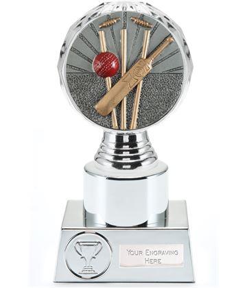 "Cricket Trophy Silver Hemisphere 16.5cm (6.5"")"