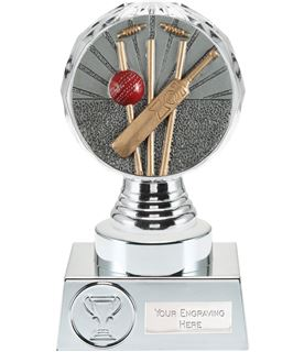 "Cricket Trophy Silver Hemisphere 15cm (6"")"