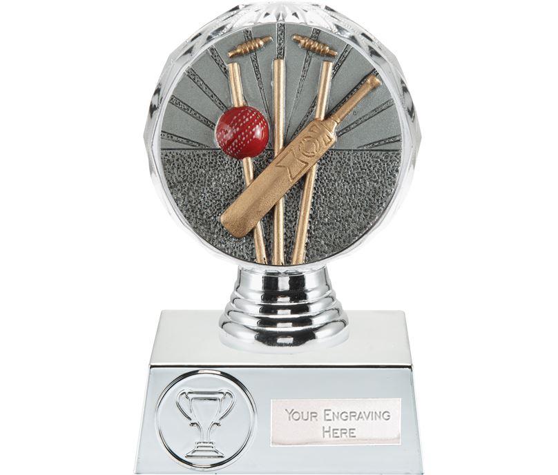 "Cricket Trophy Silver Hemisphere 13.5cm (5.25"")"