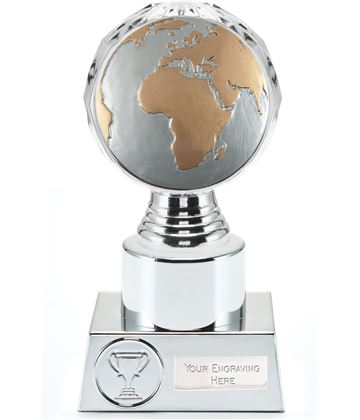 "Globe Trophy Silver Hemisphere 16.5cm (6.5"")"