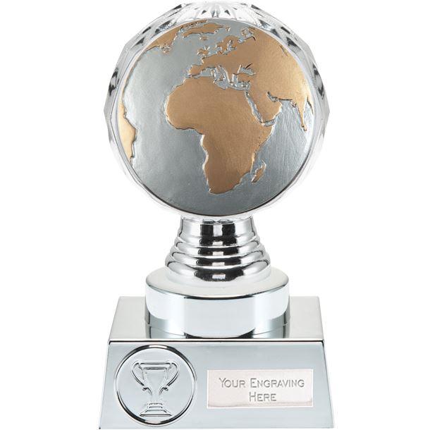 "Globe Trophy Silver Hemisphere 15cm (6"")"