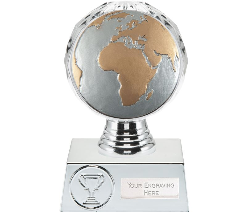 "Globe Trophy Silver Hemisphere 13.5cm (5.25"")"