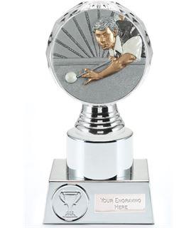 "Snooker Player Trophy Silver Hemisphere 16.5cm (6.5"")"