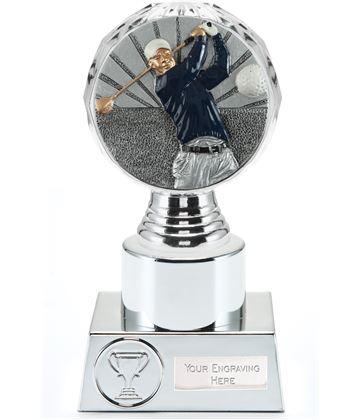 "Golf Trophy Silver Hemisphere 16.5cm (6.5"")"