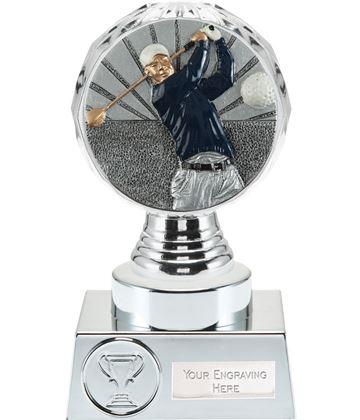 "Golf Trophy Silver Hemisphere 15cm (6"")"
